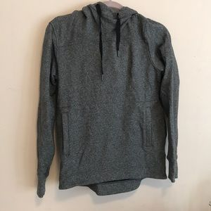 Grey hoodie with tube neck